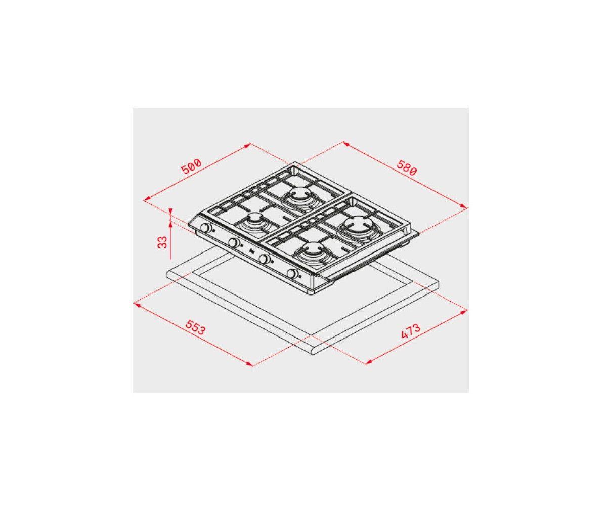 PLACA-INDEPENDI-A-GAS-TEKA-EX-60-1-3G-AI-AL-DR-CI-BUT-58CM