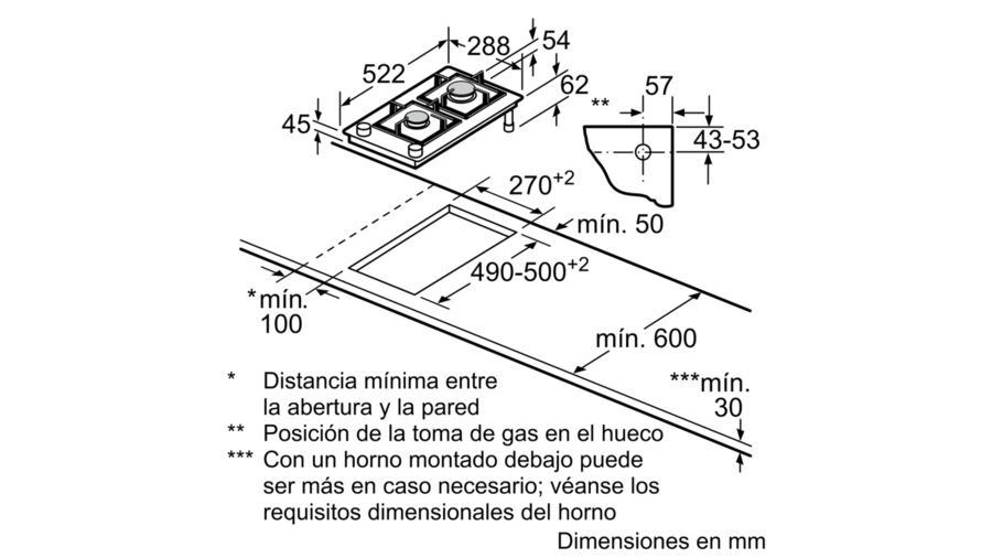 PLACA-INDEPENDI-MODULAR-BALAY-3ETG632HB-30CM-2-GAS-BISELADA